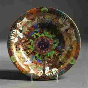 WEDGWOOD FAIRYLAND LUSTRE LILY TRAY Z4968 GARDEN OF