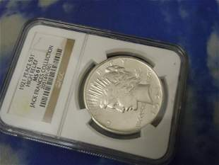 1921 S PEACE DOLLAR HIGH RELIEF MS61 NGC, JACK FRANCES