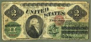 1862 $1 DOLLAR ALEXANDER HAMILTON PORTRAIT GREENBACK