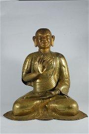 A bronze figure of Arhat
