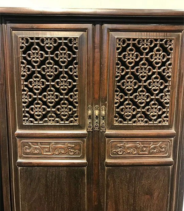 Rare Pair Chinese Antique Zitan Wood Cabinets - 3