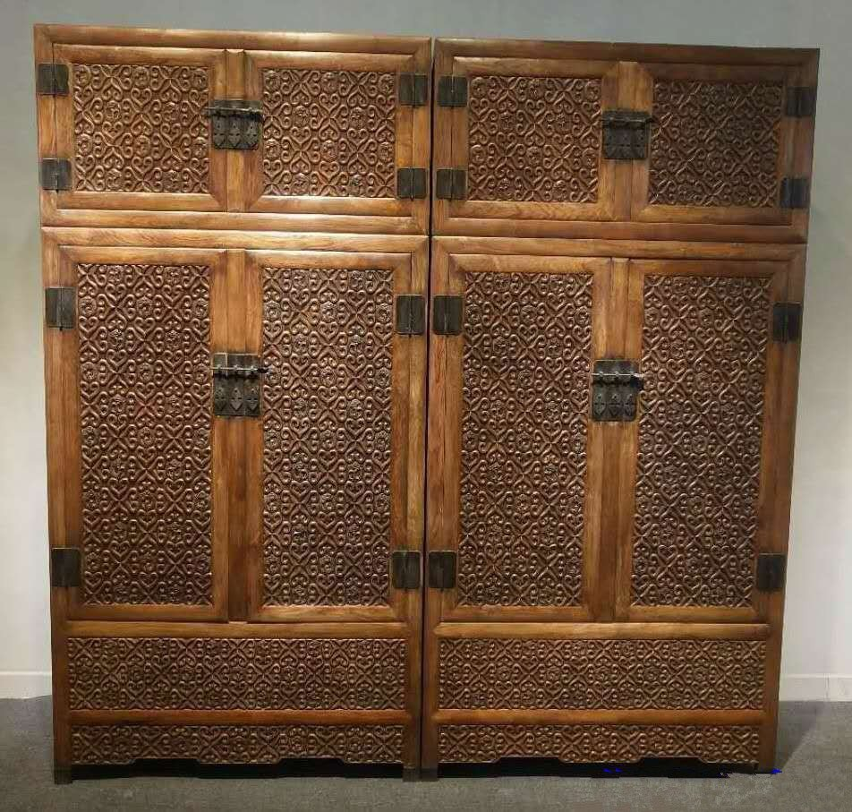 Rare Large Antique Chinese Huanghuali Wood  Cabinets