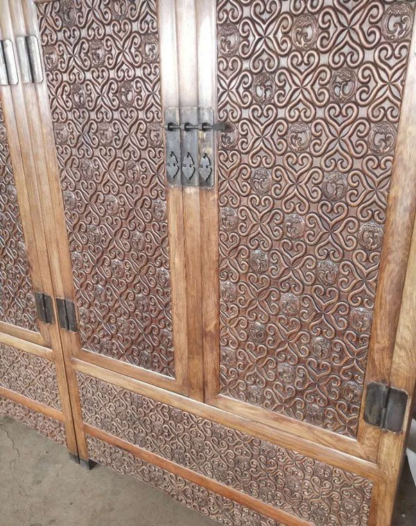 Rare Large Antique Chinese Huanghuali Wood  Cabinets - 7