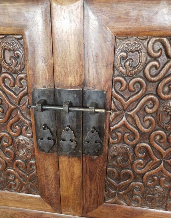 Rare Large Antique Chinese Huanghuali Wood  Cabinets - 9