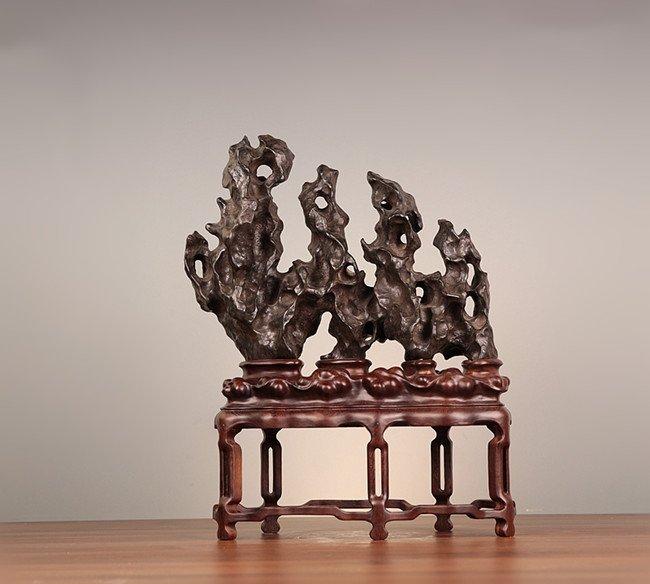 Antique Natural Chinese Taihu Scholar Stone Standing