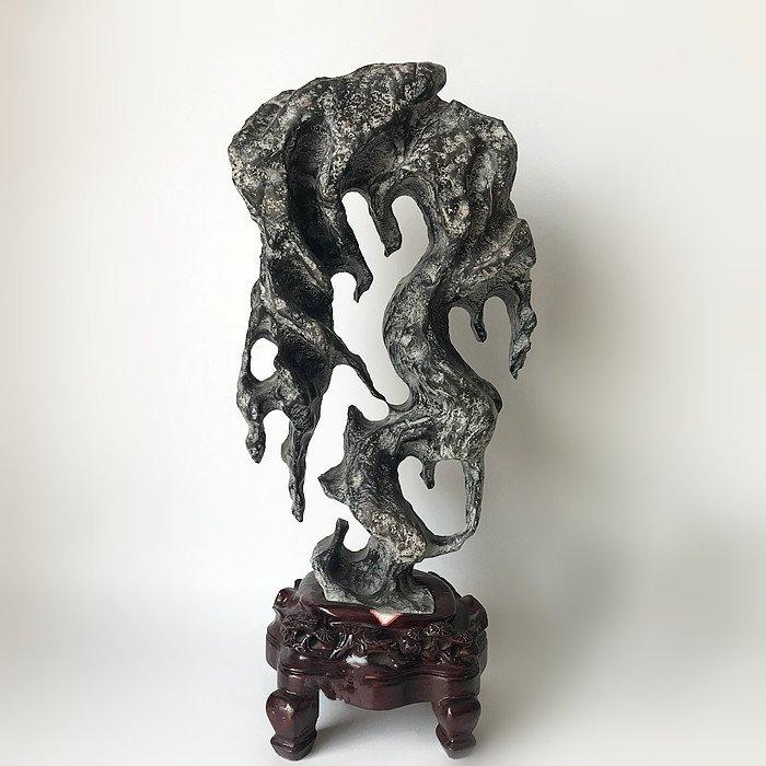 Antique Chinese Natural Scholar  Lingbi Rock Stone