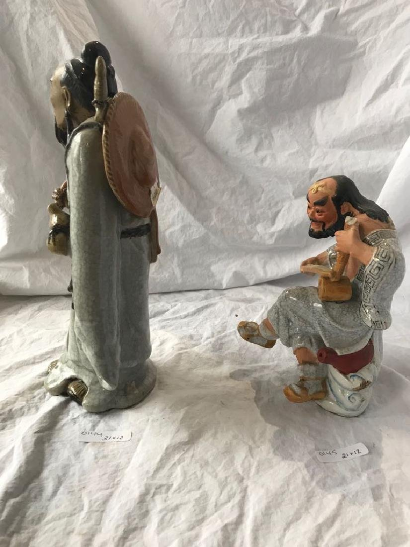 pair of glaze ceramic figure of a man