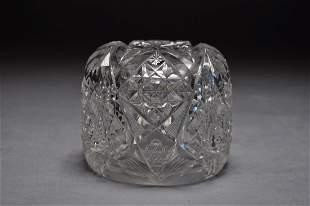Cut Crystal Piece 2 34 Cracked On Bottom