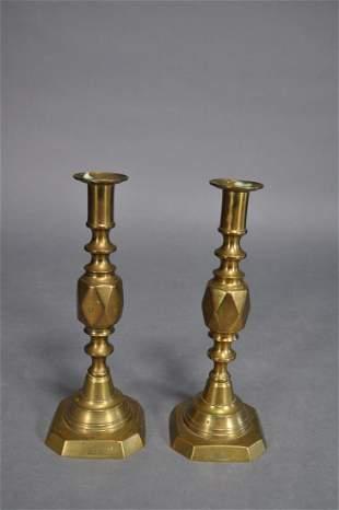 Diamond Princess Brass Pushup Candlesticks 10