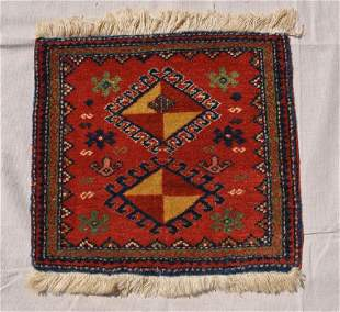 Pakistani Wool Pile Rug Redorange 15x17