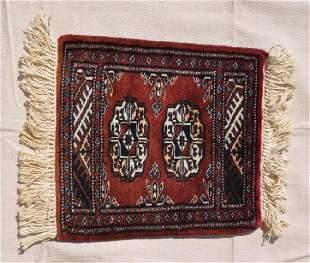 Pakistani Wool Pile Dark Red Rug 13x115
