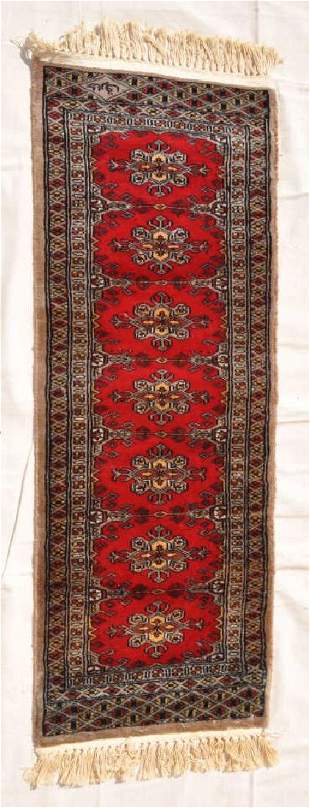 Pakistani Hand Knotted Wool Pile Rug 48x175