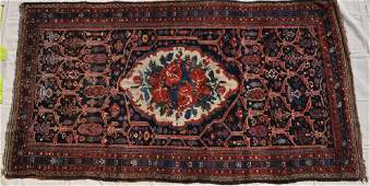 """Pakistani Hand Knotted Wool Pile Rug, 56x105"""""""