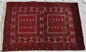 "Pakistani Hand Knotted Wool Pile Jaldar Rug, 65x91.5"""