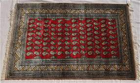 """Pakistani Hand Knotted Wool Pile Rug, 48x69"""""""