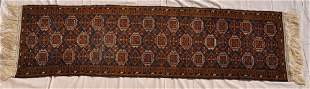 Pakistani Hand Knotted Wool Pile Runner 110x31