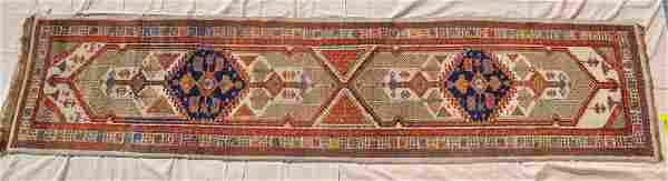 """Tribal Persian Serab Runner Rug, 177x40"""""""