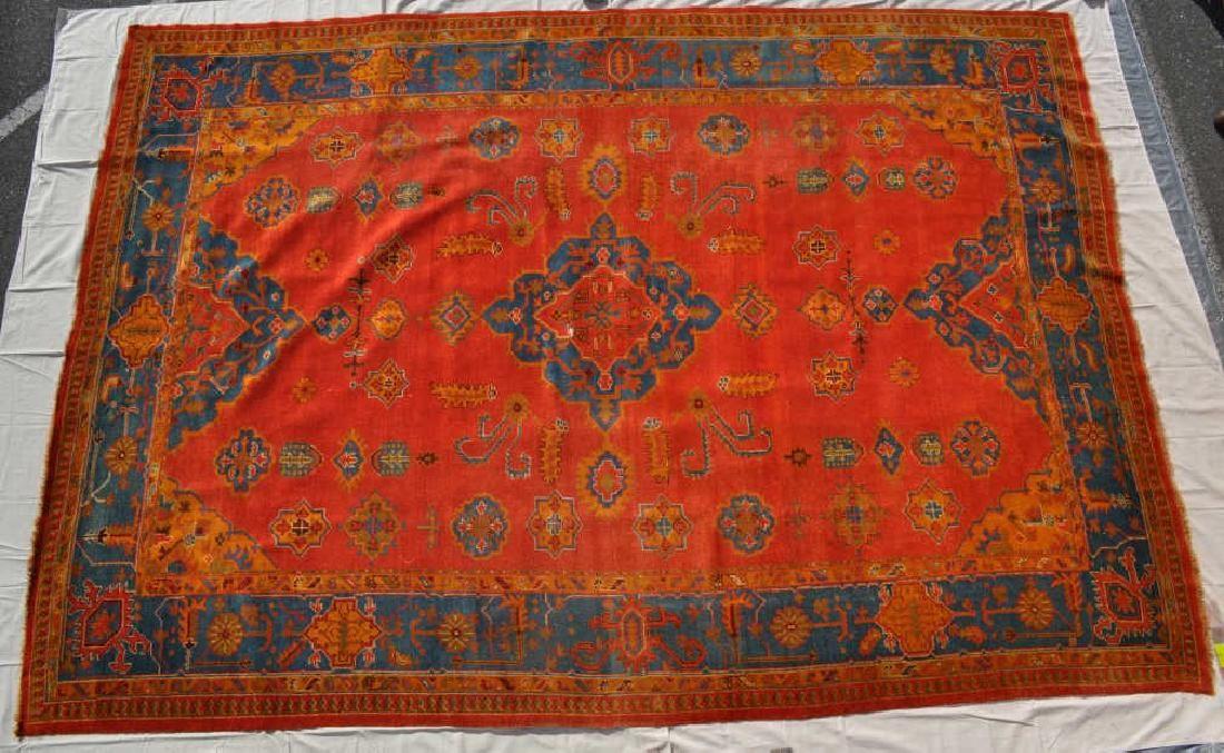 "Pakistani Hand Knotted Wool Pile Carpet, 14'8""x10'5"""