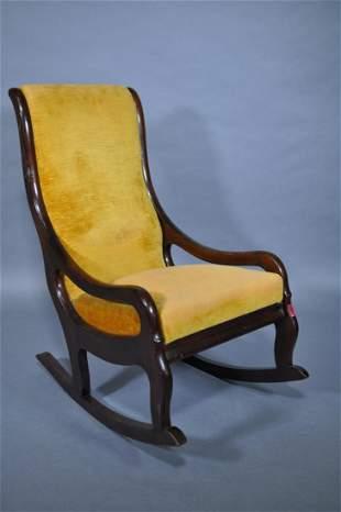 Gooseneck Small Rocking Chair Walnut