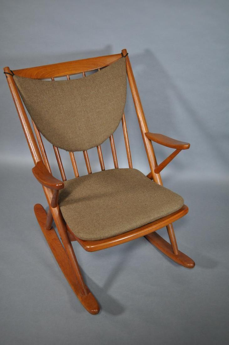 Danish Modern Rocking Chair, Frank Reenskaug,