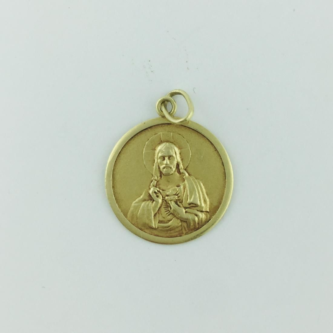 18 K yellow gold medal