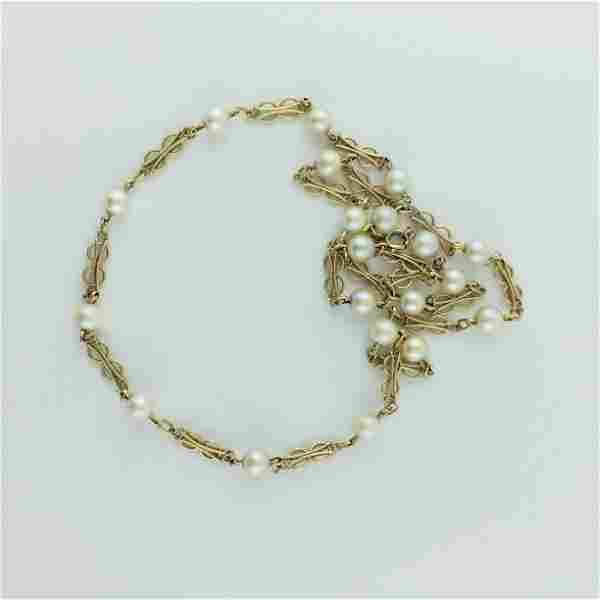 Chain link necklace in 18 K yellow gold