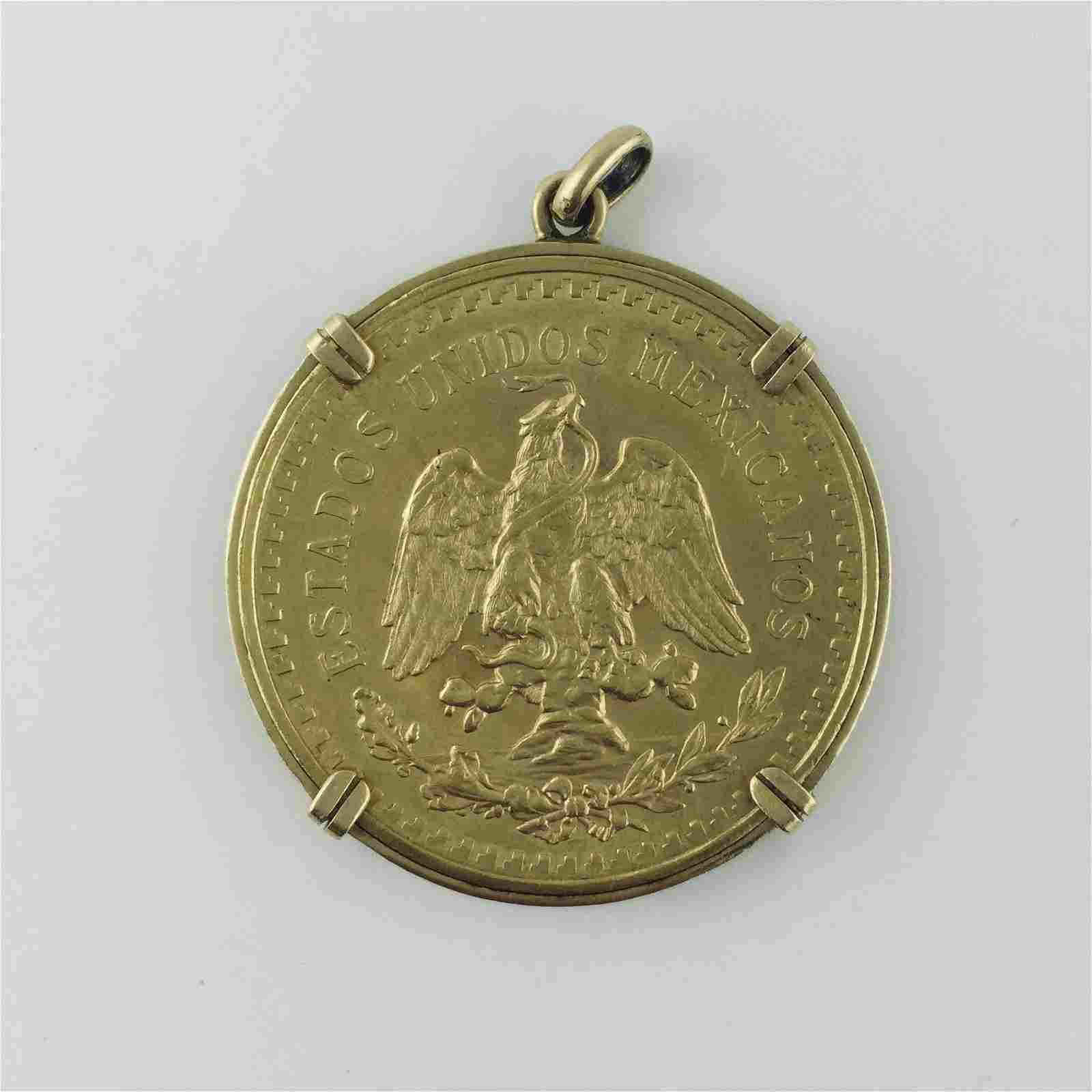 Mexican coin in gold