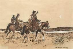 Watercolor on paper. CASTELLS CAPURRO, Enrique