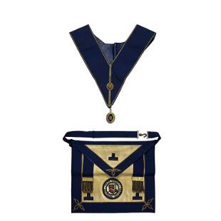 Masonic front piece necklace and decoration