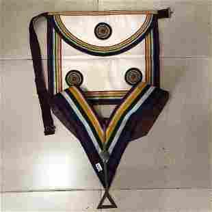 Masonic chest piece collar and decoration set