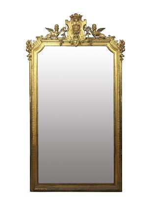 Italian Empire style trumeau mirror