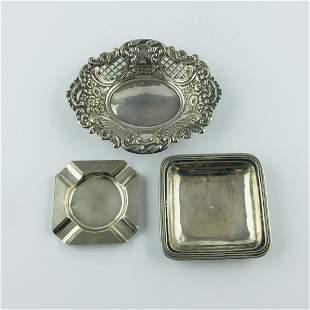 Three pieces in silver