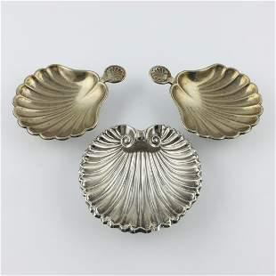 Three decorative shells