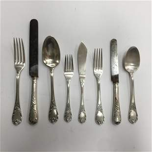 French silver plated metal cutlery set
