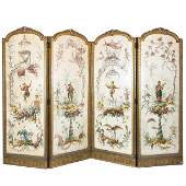 French chinoiserie style folding screen