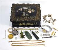 A collection of various antique and later jewellery