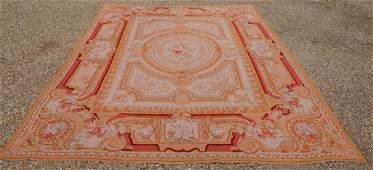 A large Aubusson style needlepoint carpet