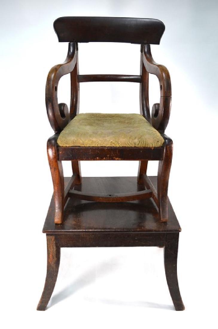 A Victorian mahogany child's bar back chair