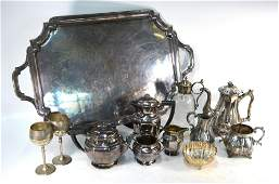 Assorted electroplated tableware etc