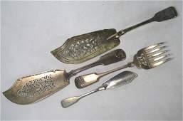 Various silver fish servers