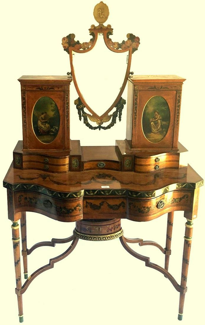 A fine quality 19th century Sheraton Revival satinwood