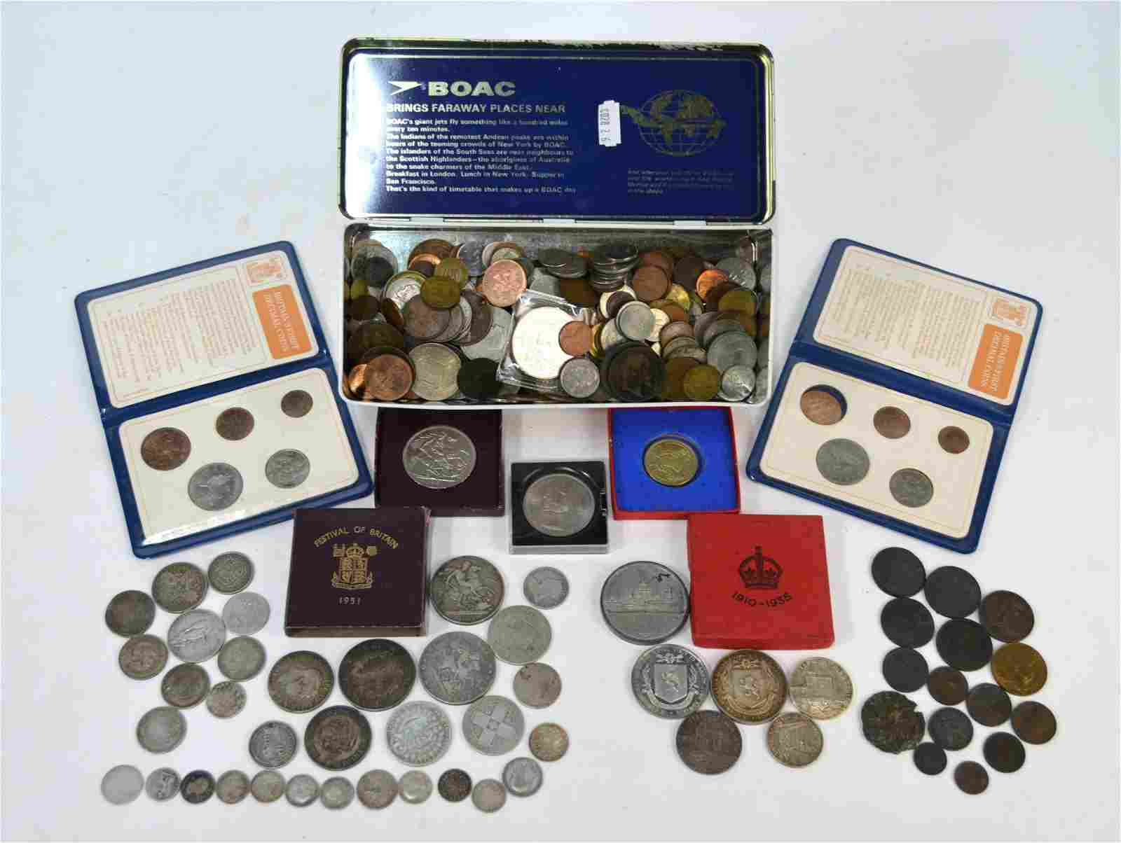 A quantity of 19th century and later coins
