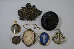 A collection of Victorian and later brooches