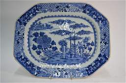 An 18th century Chinese export blue and white  tureen