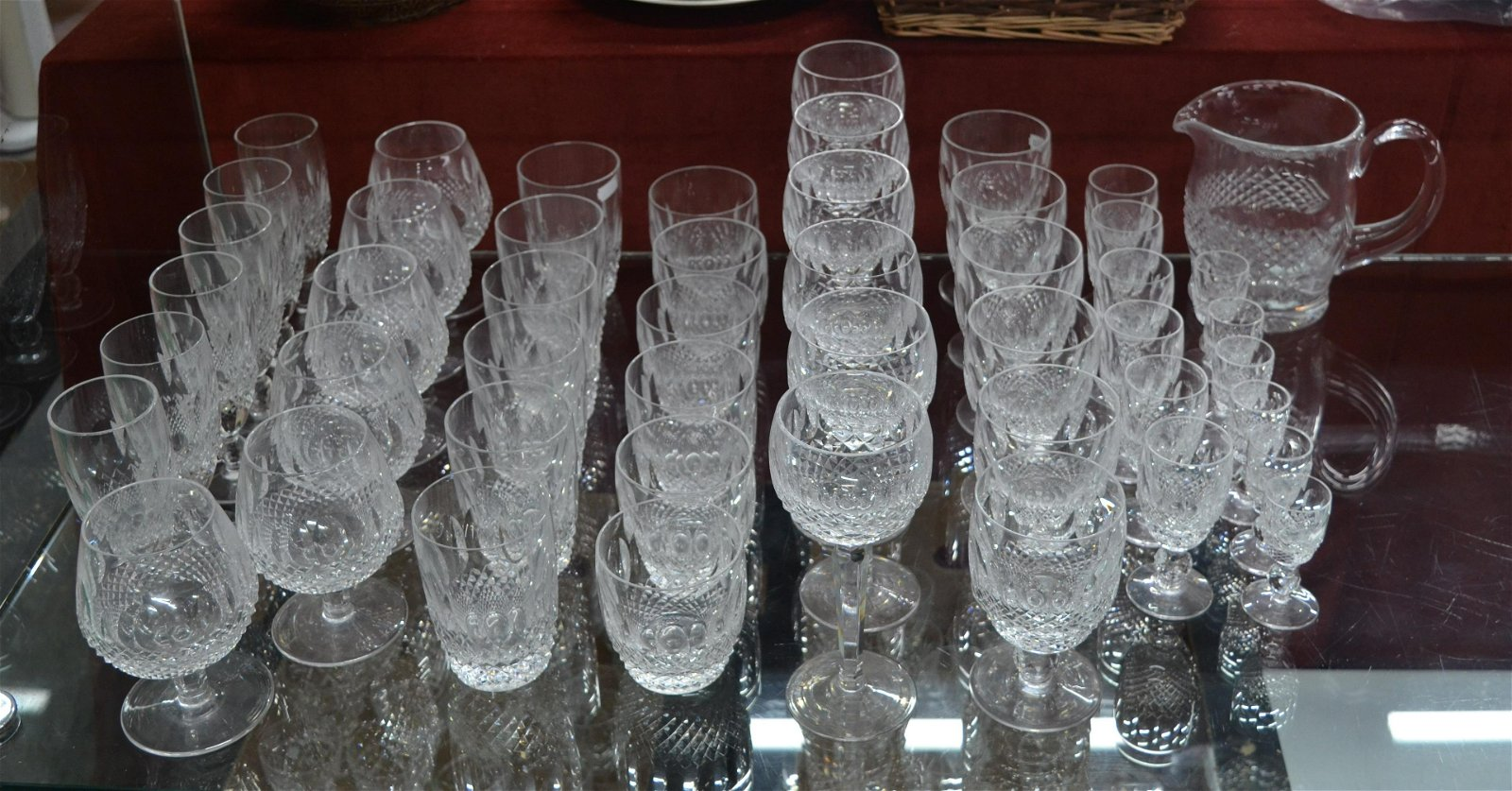 A suite of Waterford Crystal 'Colleen' pattern drinking