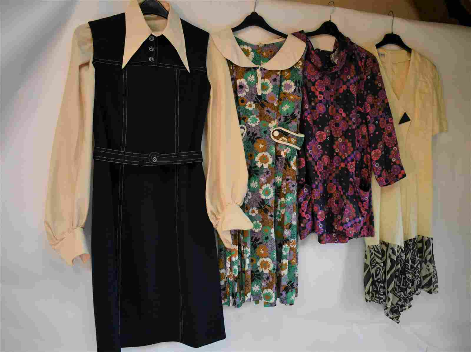 A collection of vintage ladies clothing