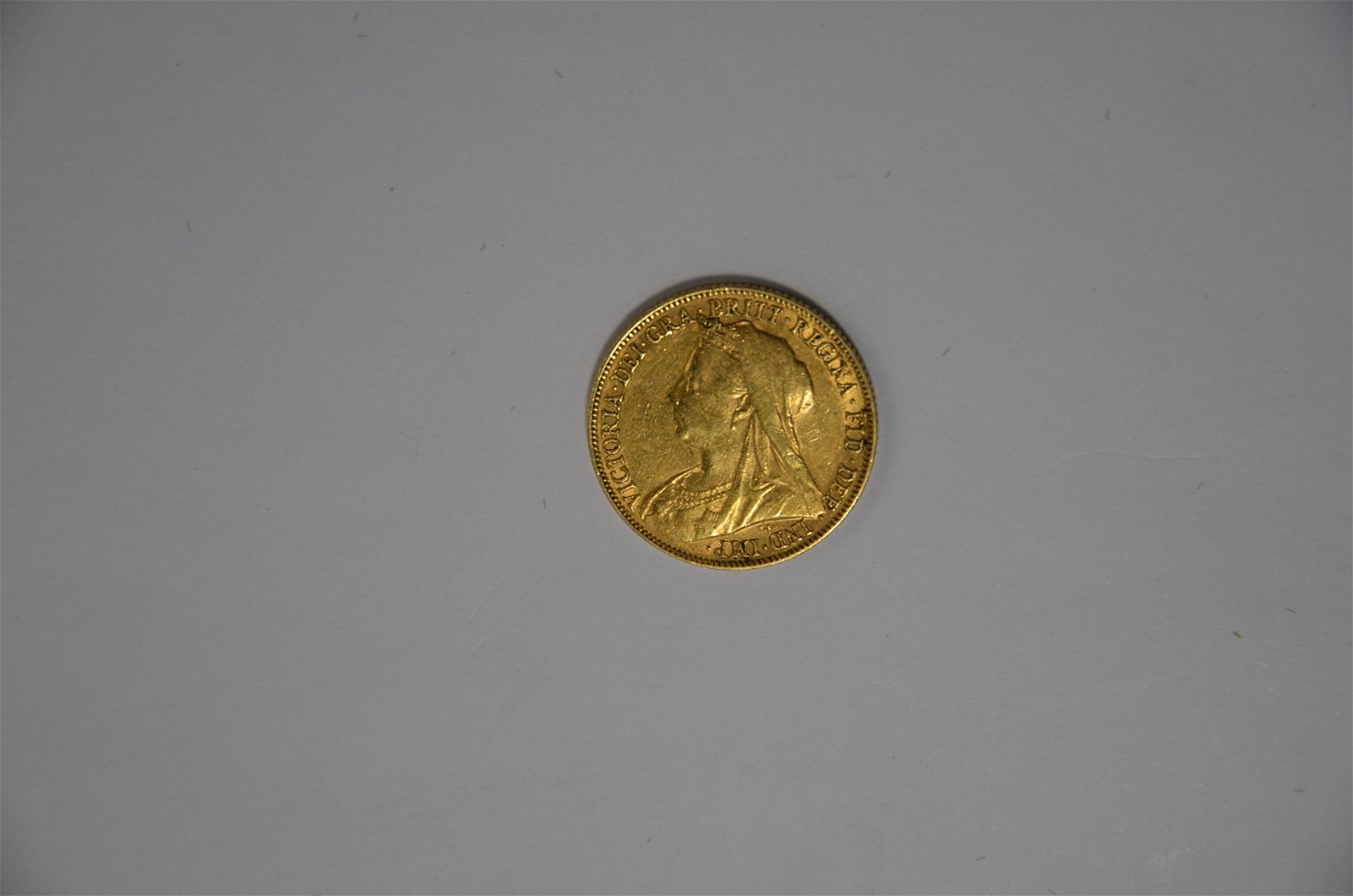 A Victorian gold sovereign dated 1897