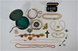 A collection of antique and vintage jewellery