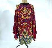 A 19th century Chinese embroidered 'dragon' robe, Jifu