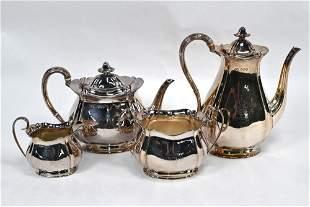 Victorian silver four-piece tea/coffee service